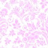 乱画佩兹利无缝的样式 在白色背景的梯度花卉元素 Gzhel 水彩模仿 二个颜色 向量例证