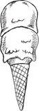 乱画冰淇凌传染媒介 免版税库存照片