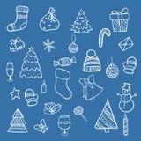 乱画圣诞节元素 库存照片
