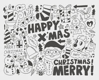 乱画圣诞节背景 免版税库存照片