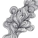 乱画在手工制造样式或抽象乱画背景黑色的元素在白色 向量例证