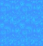 乱画妖怪无缝的样式 免版税库存图片