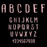 乱画字母表 免版税库存照片