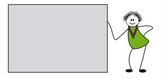 乱画字符 库存例证