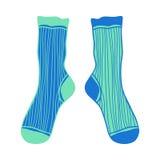 乱画对色的袜子 design illustration space 免版税库存图片
