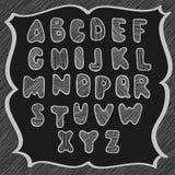 乱画拉丁字母 免版税库存照片