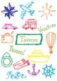 乱画旅游业集合 向量例证