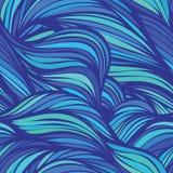 乱画无缝的样式的波浪 库存图片
