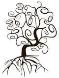 乱画样式漩涡树 免版税库存照片