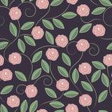 乱画玫瑰的样式 免版税库存照片
