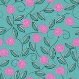 乱画玫瑰的样式 图库摄影