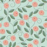 乱画玫瑰的样式 免版税图库摄影