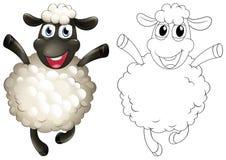 乱画绵羊的起草的动物 库存照片