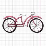 乱画自行车,优秀传染媒介例证, EPS 10 免版税库存照片