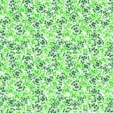 乱画绿色三叶草三叶草圣帕特里克节无缝的样式 库存图片