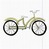乱画黄色自行车,优秀传染媒介例证, EPS 10 库存图片