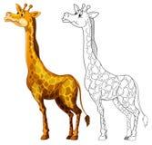 乱画长颈鹿的起草的动物 库存照片