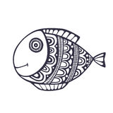 乱画鱼传染媒介 免版税库存图片