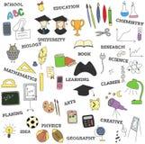 乱画infographics教育元素 库存例证