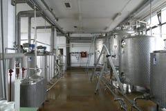 乳制品工厂生产 免版税库存照片