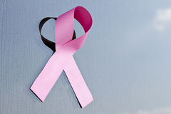 乳房丝带桃红色10月 库存照片