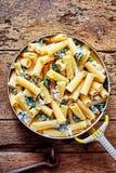 乳清干酪意大利面条用菠菜 图库摄影
