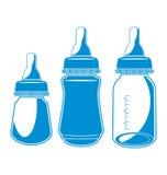 乳瓶牛奶欢迎的我的投资组合 库存图片