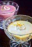 乳脂状的柑橘凝胶甜点 免版税图库摄影