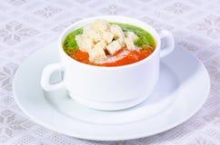 乳脂状的汤蔬菜 免版税库存照片