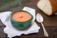 乳脂状的汤蕃茄 库存照片