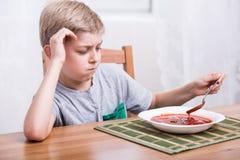 乳脂状的汤蕃茄 免版税库存照片
