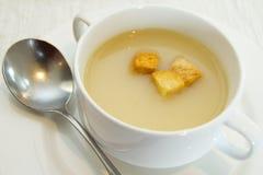 乳脂状的汤 库存图片