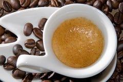 乳脂状的浓咖啡 免版税库存图片