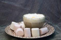 乳脂状的热奶咖啡 免版税图库摄影