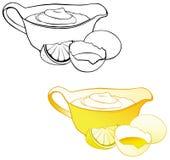乳脂状的穿戴的蛋黄酱调味汁 库存例证