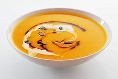 乳脂状的胡桃或南瓜汤 免版税库存照片