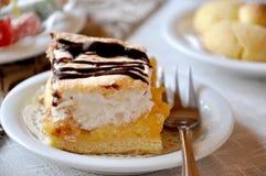 乳脂状的蛋糕用巧克力 免版税库存图片
