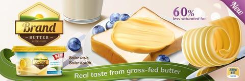 乳脂状的黄油广告 皇族释放例证