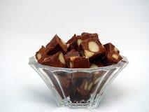 乳脂软糖马卡达姆坚果 免版税库存照片