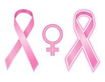 乳腺癌丝带向量 库存图片