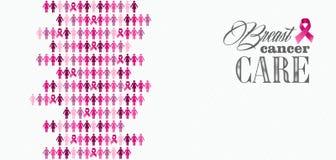 乳腺癌了悟丝带妇女形象混合涂料 免版税库存照片