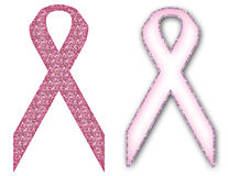 乳腺癌了悟标志丝带 库存照片