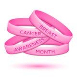 乳腺癌了悟月橡胶袖口 免版税库存图片