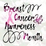 乳腺癌了悟月 免版税库存图片