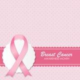 乳腺癌了悟桃红色丝带传染媒介 库存例证