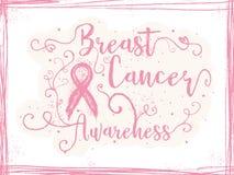 乳腺癌了悟,激动人心的标志 免版税图库摄影