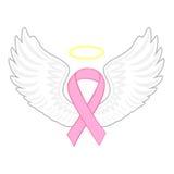 乳腺癌天使 免版税库存照片