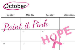 乳腺癌希望了悟消息的综合图象  免版税库存照片