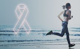 乳腺癌希望医疗保健相信概念 免版税库存图片