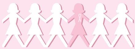 乳腺癌知名度玩偶 免版税库存照片